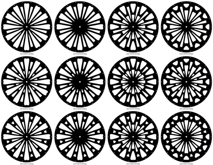 wheel 12 spokes